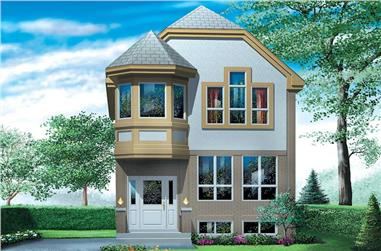 3-Bedroom, 1332 Sq Ft Small House Plans - 157-1279 - Main Exterior