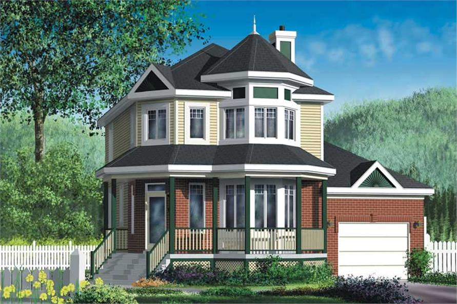 3-Bedroom, 1434 Sq Ft Small House Plans - 157-1282 - Main Exterior
