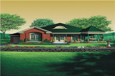 2-Bedroom, 1736 Sq Ft House Plan - 157-1283 - Front Exterior