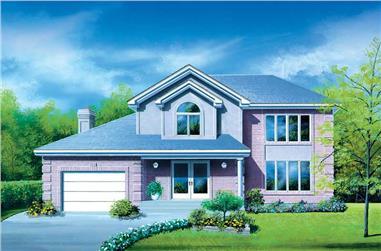 3-Bedroom, 2244 Sq Ft European Home Plan - 157-1285 - Main Exterior
