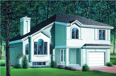 3-Bedroom, 1937 Sq Ft Craftsman Home Plan - 157-1286 - Main Exterior