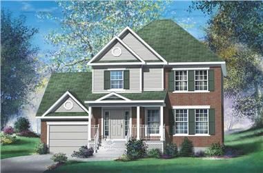 3-Bedroom, 1393 Sq Ft Multi-Level Home Plan - 157-1289 - Main Exterior