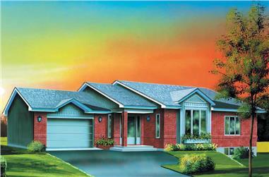 2-Bedroom, 1138 Sq Ft Ranch Home Plan - 157-1296 - Main Exterior