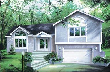 2-Bedroom, 1152 Sq Ft Craftsman Home Plan - 157-1297 - Main Exterior