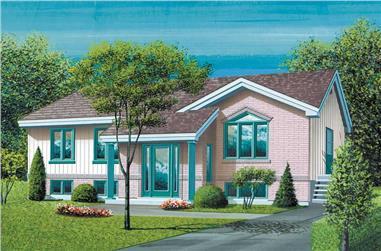 3-Bedroom, 1166 Sq Ft Ranch Home Plan - 157-1298 - Main Exterior
