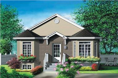 2-Bedroom, 916 Sq Ft Bungalow House Plan - 157-1300 - Front Exterior