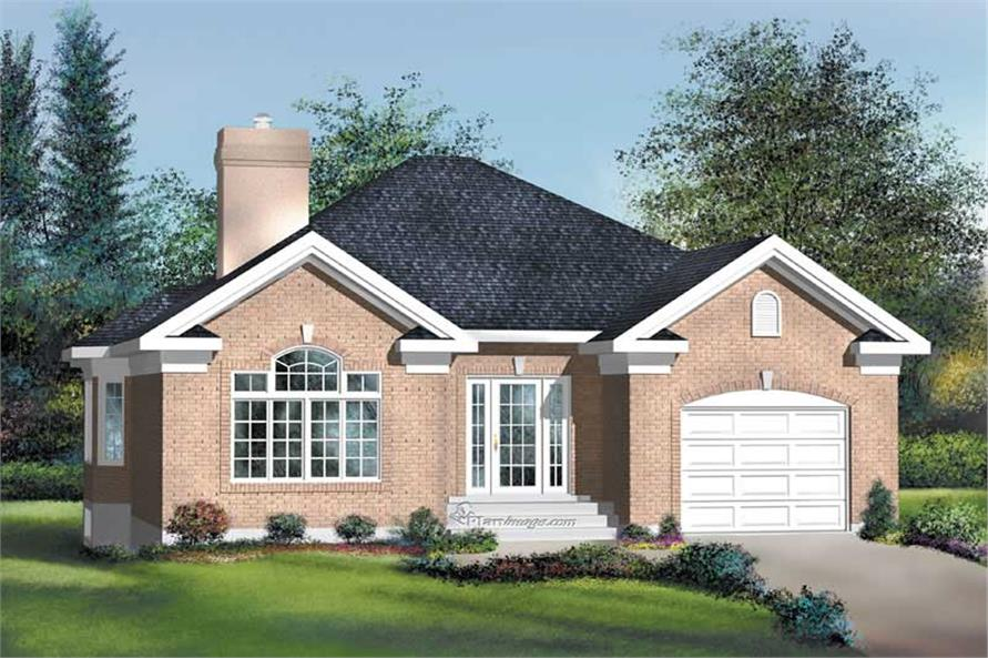 2-Bedroom, 1400 Sq Ft Craftsman House Plan - 157-1301 - Front Exterior