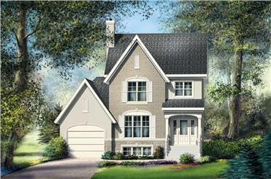 3-Bedroom, 1344 Sq Ft Ranch Home Plan - 157-1303 - Main Exterior
