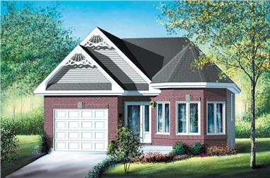 2-Bedroom, 983 Sq Ft Bungalow House Plan - 157-1306 - Front Exterior