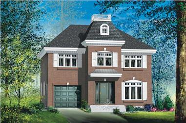 3-Bedroom, 1657 Sq Ft European Home Plan - 157-1307 - Main Exterior