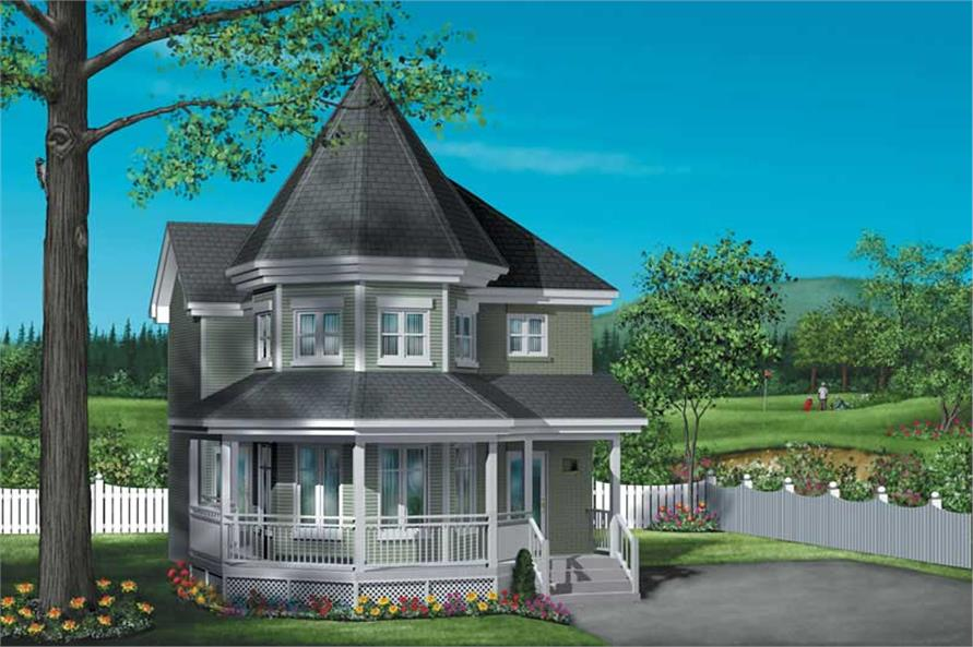 3-Bedroom, 1396 Sq Ft Small House Plans - 157-1310 - Main Exterior