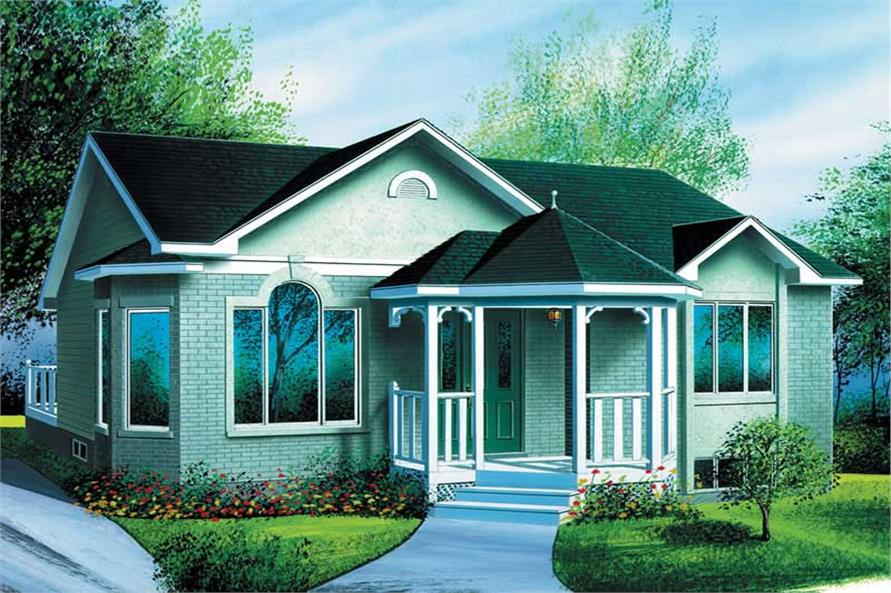 2-Bedroom, 971 Sq Ft Ranch Home Plan - 157-1312 - Main Exterior