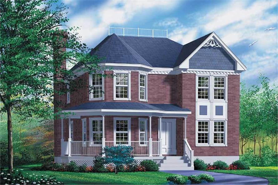 4-Bedroom, 2279 Sq Ft Traditional Home Plan - 157-1313 - Main Exterior