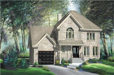 3-Bedroom, 2103 Sq Ft Country Home Plan - 157-1314 - Main Exterior