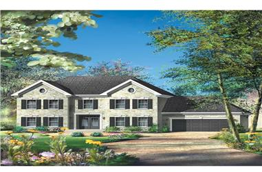 4-Bedroom, 4273 Sq Ft Luxury House Plan - 157-1315 - Front Exterior