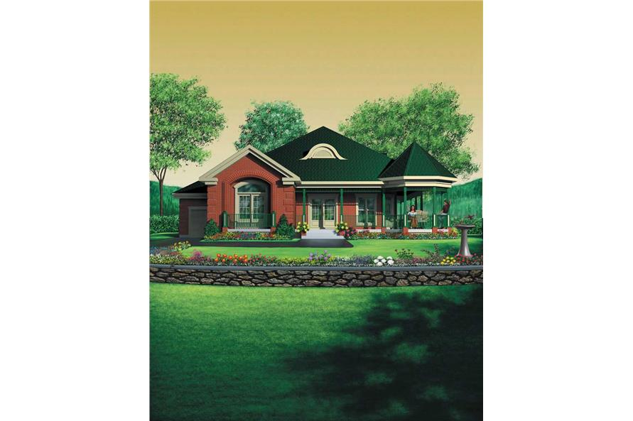 3-Bedroom, 1929 Sq Ft Country House Plan - 157-1316 - Front Exterior