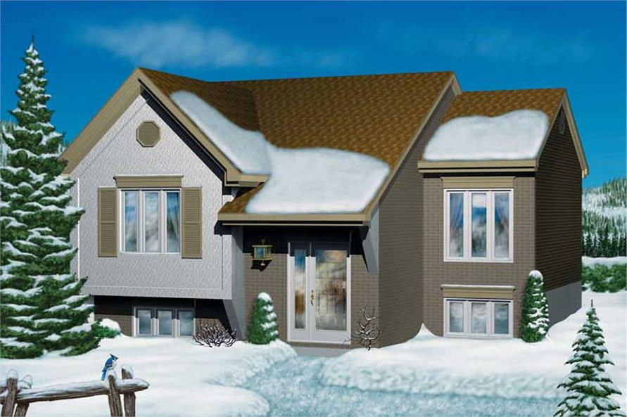 2-Bedroom, 1085 Sq Ft Bungalow Home Plan - 157-1317 - Main Exterior