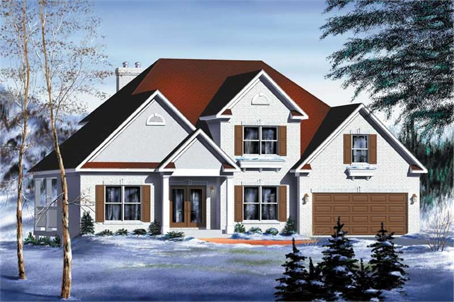 3-Bedroom, 2409 Sq Ft Multi-Level House Plan - 157-1319 - Front Exterior