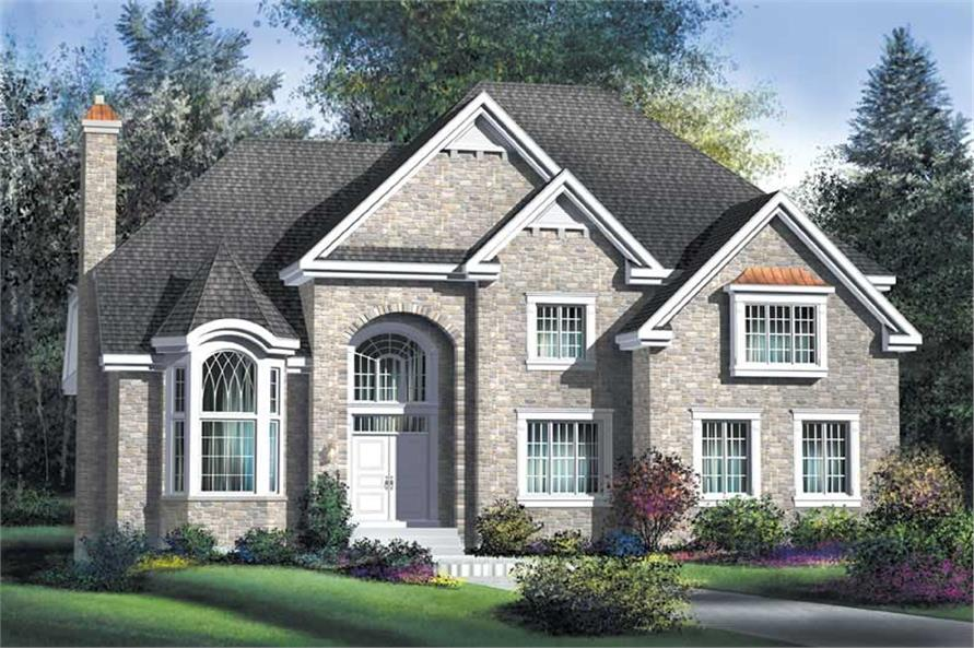 4-Bedroom, 2916 Sq Ft Multi-Level Home Plan - 157-1320 - Main Exterior