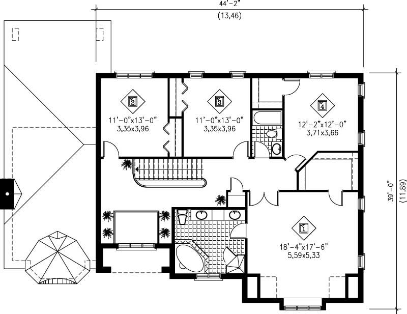 Multi level house plans home design pi 20471 12223 for Multi level floor plans