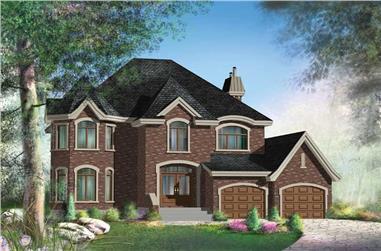 3-Bedroom, 2531 Sq Ft Multi-Level Home Plan - 157-1321 - Main Exterior