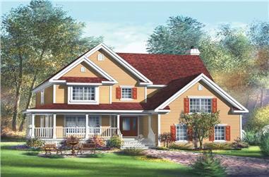 4-Bedroom, 3515 Sq Ft Multi-Level Home Plan - 157-1323 - Main Exterior