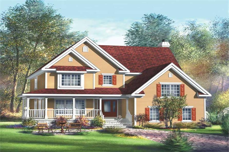 4-Bedroom, 3515 Sq Ft Multi-Level Home Plan - 157-1323 - Main Exterior