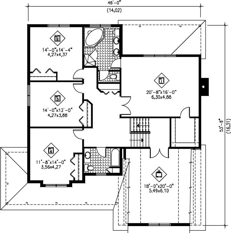 Multi level house plans home design pi 20252 12207 for Multi level floor plans