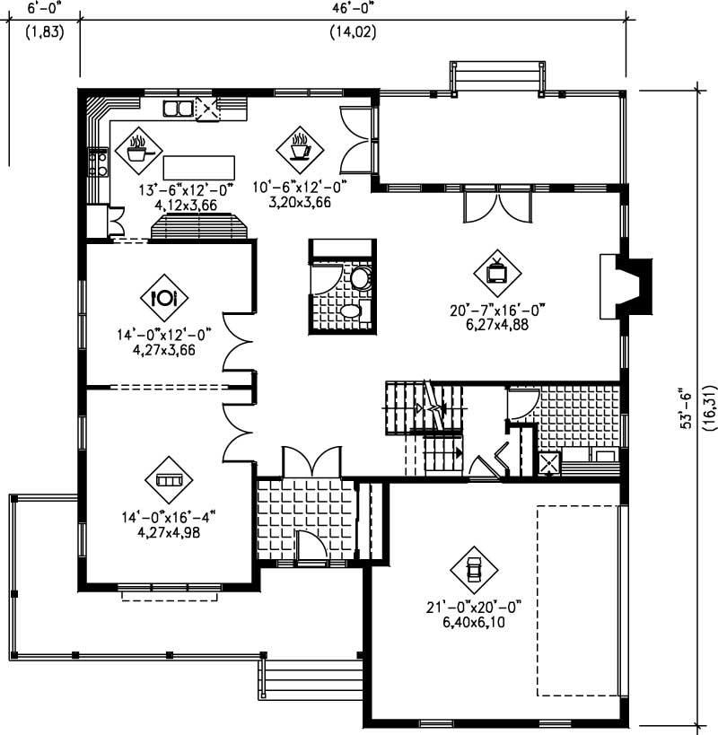 Multi level house plans home design pi 20252 12207 for Multi level floor plans