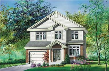 3-Bedroom, 1591 Sq Ft Multi-Level Home Plan - 157-1326 - Main Exterior