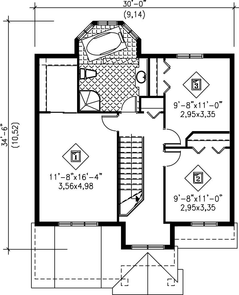 Multi level traditional house plans home design pi for Multi level floor plans