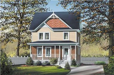 3-Bedroom, 1152 Sq Ft Ranch Home Plan - 157-1328 - Main Exterior