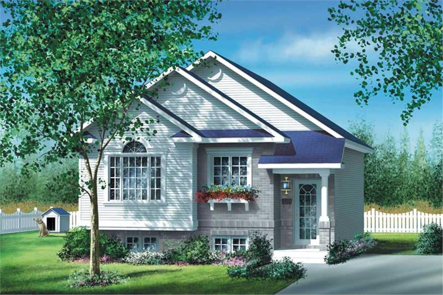 2-Bedroom, 886 Sq Ft Bungalow House Plan - 157-1333 - Front Exterior
