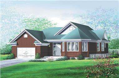 3-Bedroom, 1319 Sq Ft Home Plan - 157-1335 - Main Exterior