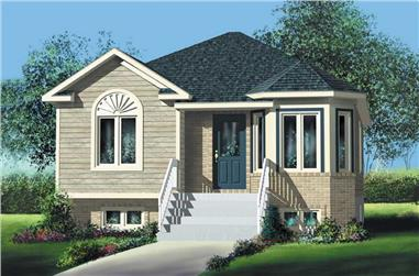 2-Bedroom, 921 Sq Ft Bungalow Home Plan - 157-1336 - Main Exterior