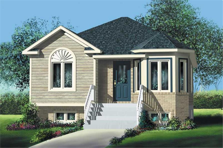 2-Bedroom, 921 Sq Ft Bungalow Home Plan - 157-1336 - Main Exterior