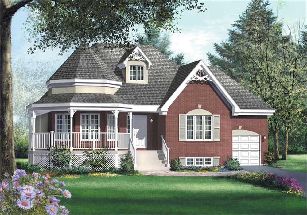 Front elevation of Small House Plans home (ThePlanCollection: House Plan #157-1337)