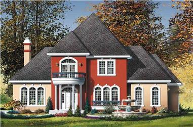 3-Bedroom, 2688 Sq Ft European Home - Plan #157-1338 - Front Exterior