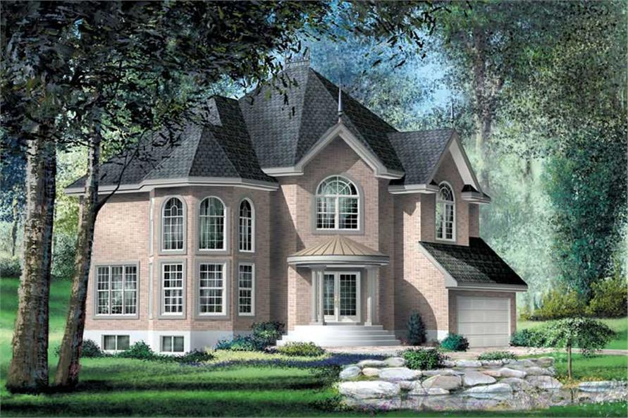 4-Bedroom, 2911 Sq Ft Multi-Level Home Plan - 157-1340 - Main Exterior