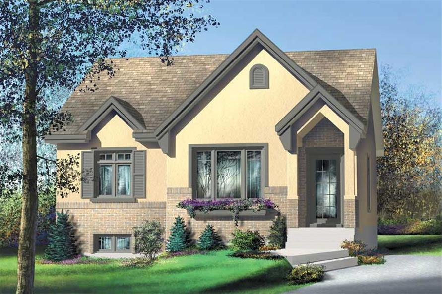 2-Bedroom, 924 Sq Ft Bungalow Home Plan - 157-1341 - Main Exterior