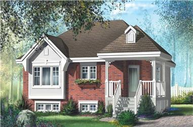 2-Bedroom, 889 Sq Ft Bungalow House Plan - 157-1342 - Front Exterior