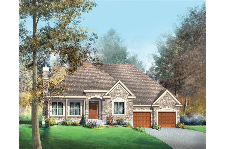 3-Bedroom, 1719 Sq Ft House Plan - 157-1343 - Front Exterior