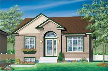 2-Bedroom, 952 Sq Ft Bungalow Home Plan - 157-1345 - Main Exterior