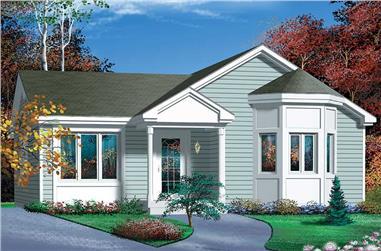 2-Bedroom, 968 Sq Ft Bungalow Home Plan - 157-1346 - Main Exterior