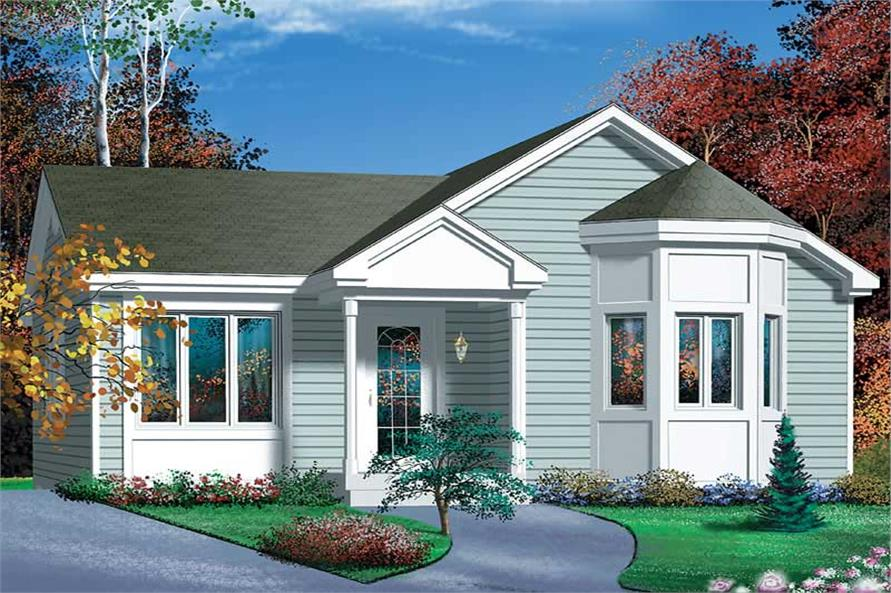 2-Bedroom, 968 Sq Ft Bungalow Home Plan - 157-1346 - Main Exterior
