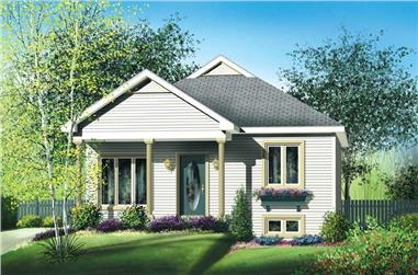 2-Bedroom, 896 Sq Ft Bungalow Home Plan - 157-1347 - Main Exterior