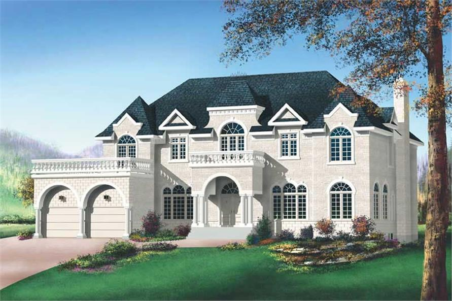 4-Bedroom, 4427 Sq Ft Luxury Home Plan - 157-1349 - Main Exterior