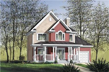 3-Bedroom, 1664 Sq Ft Country Home Plan - 157-1350 - Main Exterior