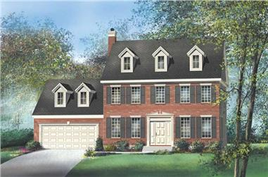 3-Bedroom, 1664 Sq Ft Multi-Level Home Plan - 157-1351 - Main Exterior