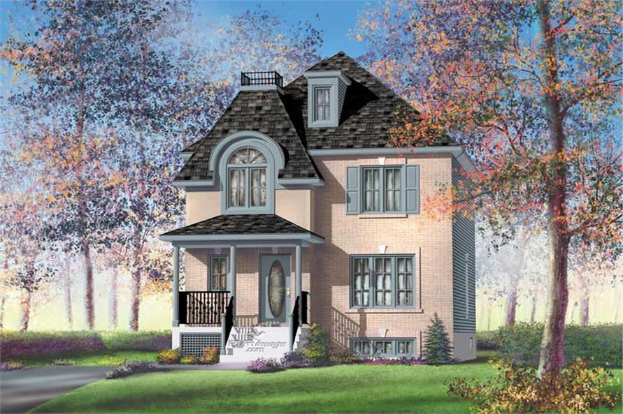 3-Bedroom, 1402 Sq Ft Small House Plans - 157-1352 - Front Exterior